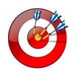 Vector icon dart — Stock Vector