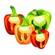 Stock Vector: Vector icon bell pepper