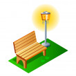 Vector icon bench  — Stock Vector