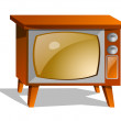 Stock Vector: Vector icon television