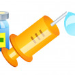 Stock Vector: Vector icon syringe