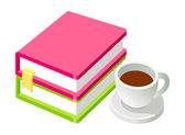 Coffee and books — Stockvektor