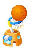 Basketbal bal in de mand — Stockvector