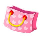 Pink shopping bag — Stock Vector