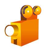 オレンジのカメラ — ストックベクタ
