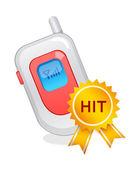 Vector icon mobile phone — Stock Vector