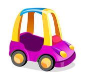 ベクトルのアイコンのおもちゃの車 — ストックベクタ