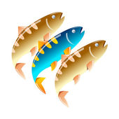 Vector icon fishing — Stock Vector