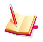 Vektor ikonfil och penna — Stockvektor