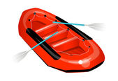 Vector icon rubber boat — Stock Vector