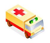 Toy ambulance — Stock Vector