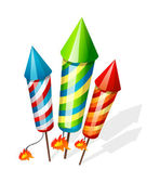 Vector icon firecrackers — Stock Vector