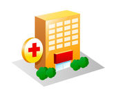Vector icon hospital — Stock Vector