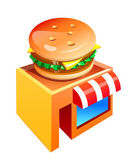 Vector icon hamburgur shop — Stock Vector