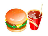 Vector icon fastfood — Stock Vector
