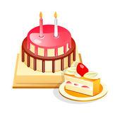 Vector icon cake — Stock Vector
