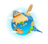 Vector icon globe — Stock Vector