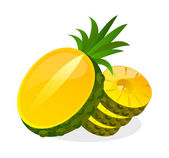Vector icon pineapple — Vector de stock