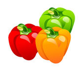 Vector icon bell pepper — Stock Vector