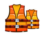 Vector icon safety vest — Stock Vector
