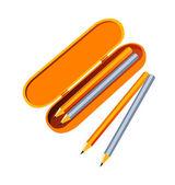 Vector icon pencil case — Stock Vector