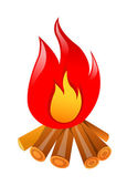 Vector icon bonfire — Stock Vector