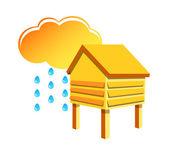 Vector icon humidity measurement — Stock Vector