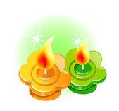 Vector icon candle — Stock Vector