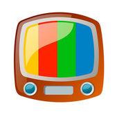 Vector icon television — Stock Vector