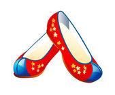 Sapatos tradicionais ícone do vetor — Vetor de Stock