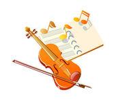 Violino de ícone vector — Vetor de Stock
