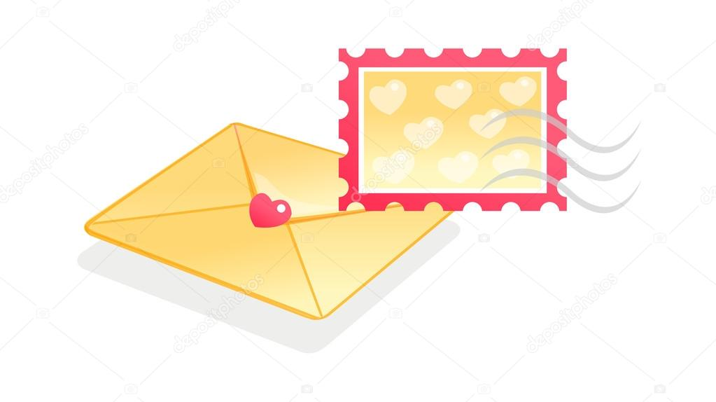 Letter and stamp — Stock Vector #13431794