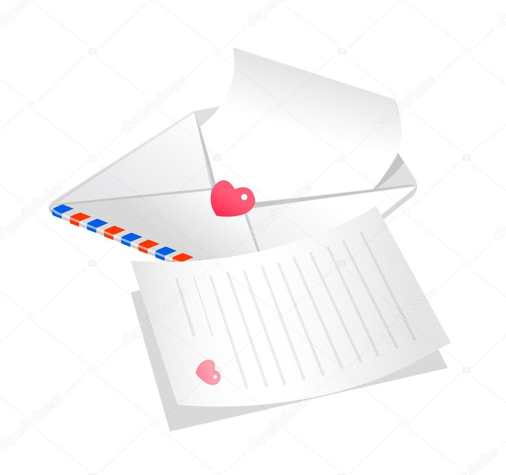 Letter and envelope — Stock Vector #13431796