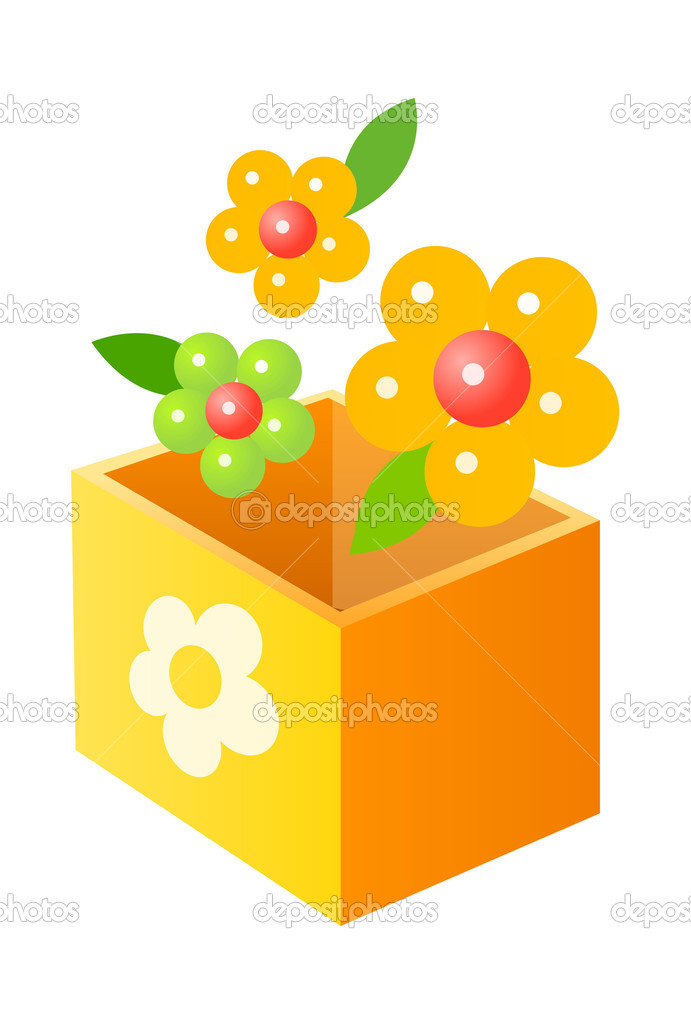 Vector icon box and flower — Stock Vector #13431953