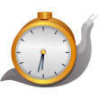 Vector icon watch and snail — Stock Vector #13445220