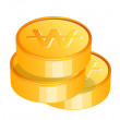 Vector icon coin — Stock Vector