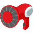 Stock Vector: Vector icon hair dryer
