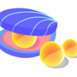 Vector icon pearl oyster — Stock Vector
