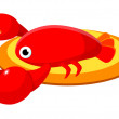 Vector icon crawfish - Stock Vector
