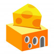 Stock Vector: Vector icon cheese shop