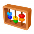 Vector icon abacus calculation — Stock Vector