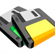 Vector icon floppy disk — Stock Vector