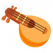 Stock Vector: Vector icon string instrument