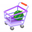 Icon shopping cart - Stock Vector