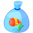 Icon fishbowl — Stock Vector