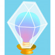 Icon lamp — Stock Vector
