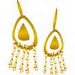 Icon earring — Stockvektor