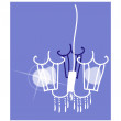 Icon chandelier — Stock Vector