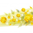 Royalty-Free Stock Vector Image: Field of yellow flowers