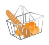Vector icon shopping basket — Stock Vector